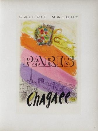 AF 1954 - Galerie Maeght Paris Samlertryk af Marc Chagall