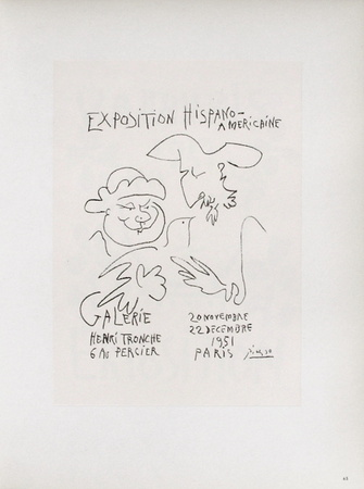 AF 1951 - Exposition Hispano-Américaine III Collectable Print by Pablo Picasso