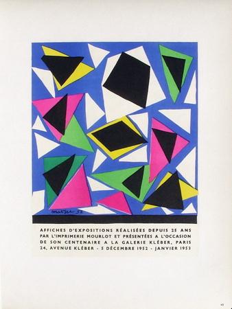 AF 1953 - Mourlot À La Galerie Kléber Samlertryk af Henri Matisse