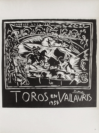 AF 1954 - Toros en Vallauris Collectable Print by Pablo Picasso
