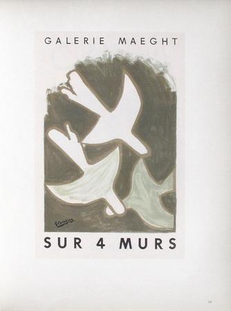 AF 1956 - Galerie Maeght Sur 4 Murs Samlertryk af Georges Braque