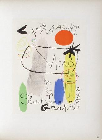 AF 1950 - Galerie Maeght Samlertryk af Joan Miró