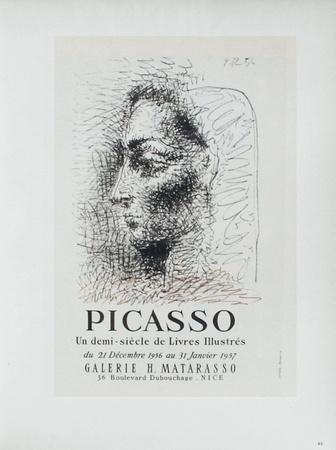 AF 1957 - Galerie Matarasso Collectable Print by Pablo Picasso