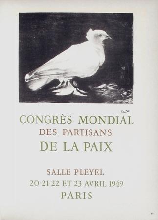 AF 1949 - Congrès Mondial des Partisans de la Paix Samlertryk af Pablo Picasso