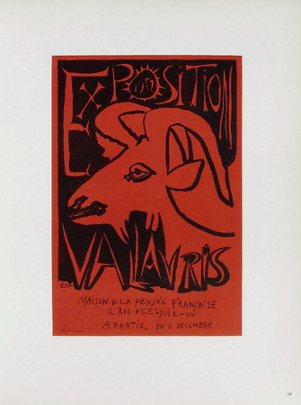 AF 1952 - Exposition Vallauris Samlertryk af Pablo Picasso