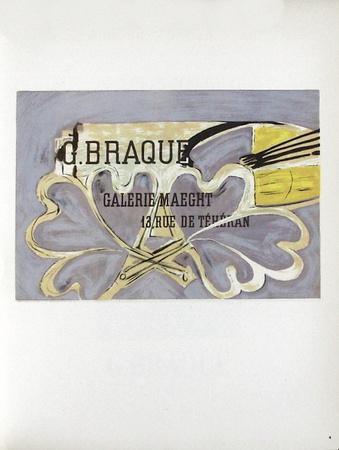 AF 1952 - Galerie Maeght Samlertryk af Georges Braque