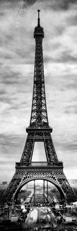 Instants of Paris B&W Series - Eiffel Tower, Paris, France Photographic Print by Philippe Hugonnard