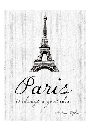 Paris Quote 2 Prints by Lauren Gibbons