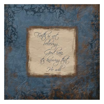 Blue Faith Prints by Jace Grey