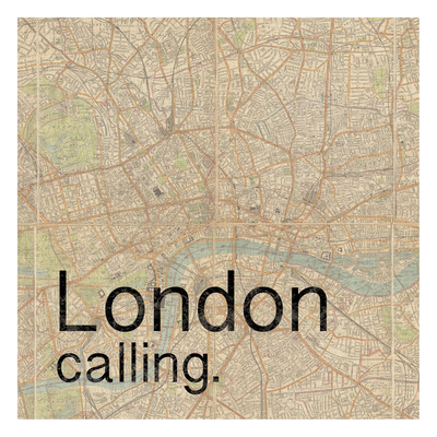 Map London Poster by Lauren Gibbons