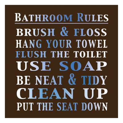 Bath Rules Art by Lauren Gibbons