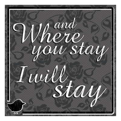 Where Stay Poster by Lauren Gibbons
