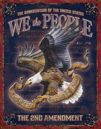 We The People - 2nd Amendment Tin Sign Tin Sign