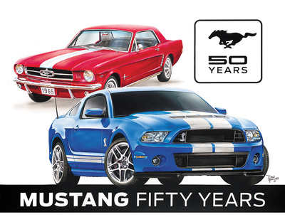 Ford Mustang 50th Tin Sign Tin Sign