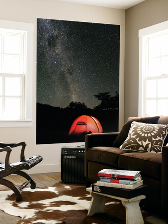 Hilleberg Tent under the Night Sky, Patagonia, Aysen, Chile Wall Mural by Fredrik Norrsell