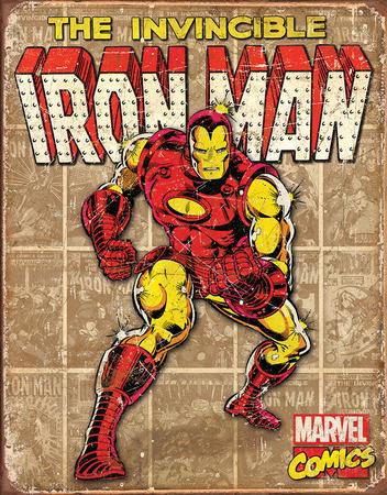 Iron Man - Retro Panels Tin Sign Tin Sign