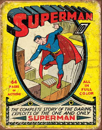 Superman No1 Cover Tin Sign Tin Sign