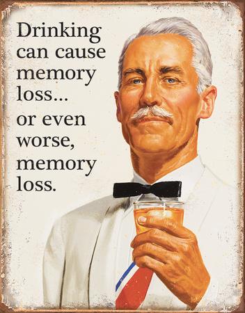 Ephemera - Memory Loss Tin Sign Tin Sign
