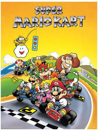 Super Mario Kart - Retro Masterprint