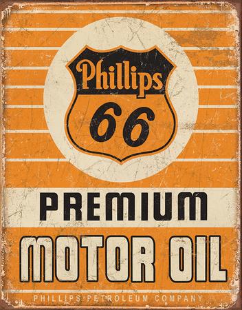 Phillips 66 Premium Oil Tin Sign Tin Sign