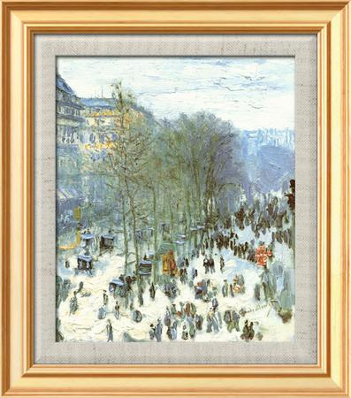 Boulevard des Capucines, c.1873 Çerçeveli Dokuma Sanat