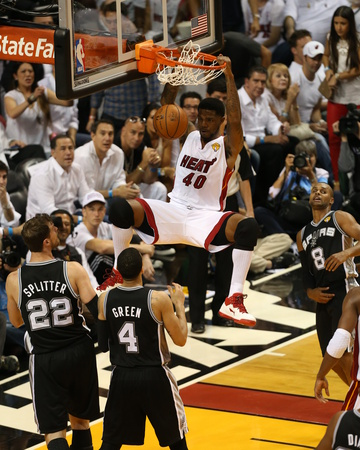 2014 NBA Finals Game Four: Jun 12, Miami Heat vs San Antonio Spurs - Udonis Haslem Photo by Joe Murphy