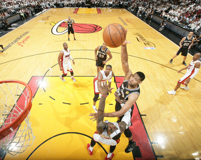2014 NBA Finals Game Four: Jun 12, Miami Heat vs San Antonio Spurs - Tim Duncan, LeBron James Photo by Nathaniel S. Butler