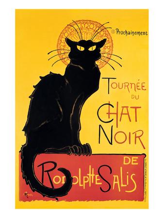 Chat Noir Lámina por Théophile Alexandre Steinlen
