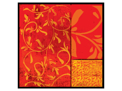 Florence Red Gold Prints by Lillian Pasenar