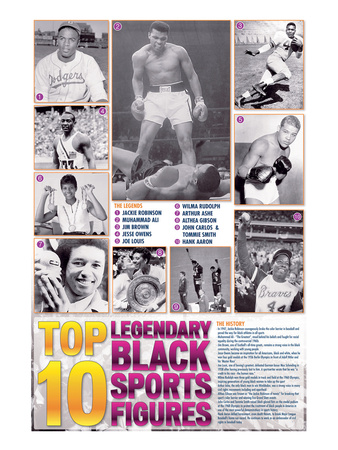 Legendary Black Sports Figures Posters