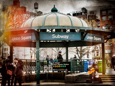 Instants of NY Series - Urban Scene Photographic Print by Philippe Hugonnard