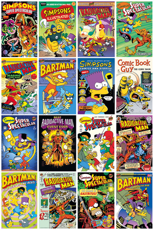 The Simpsons - Comic Covers Prints