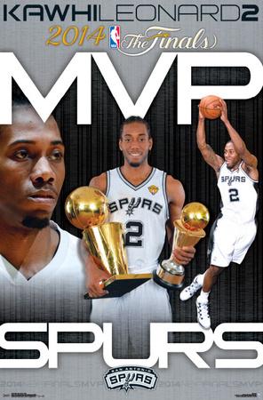 Kawhi Leonard MVP Poster: 2014 NBA Finals