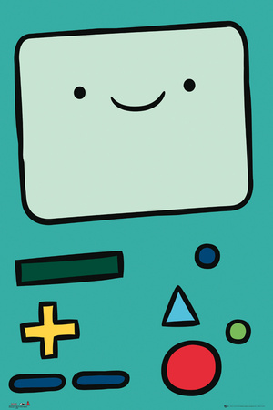 Adventure Time BMO character cartoon poster