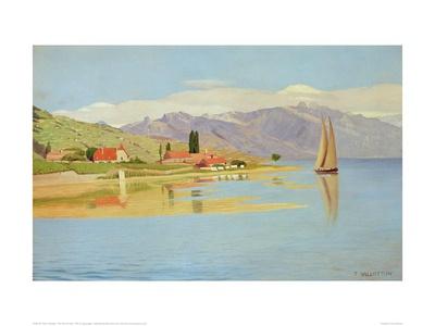 The Port of Pully Lámina giclée por Félix Vallotton