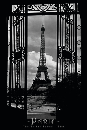 Eiffel Tower Through the Gates Posters
