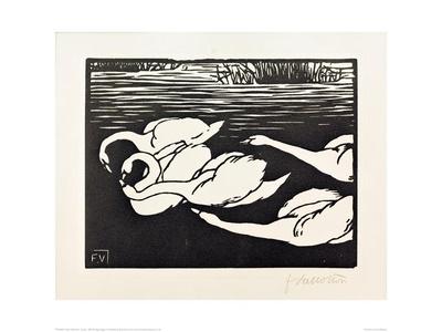 Swans Giclee Print by Félix Vallotton