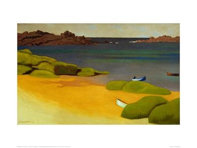 The Bay of Tregastel Giclee Print by Félix Vallotton