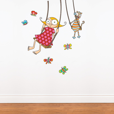Swing Girl Wall Decal Wall Decal