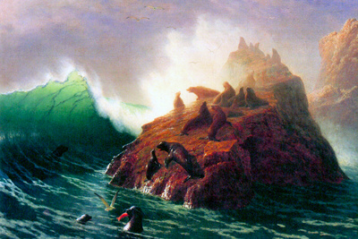 Albert Bierstadt Seal Rock California Posters