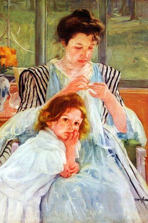Mary Cassatt Young Mother Sewing Prints