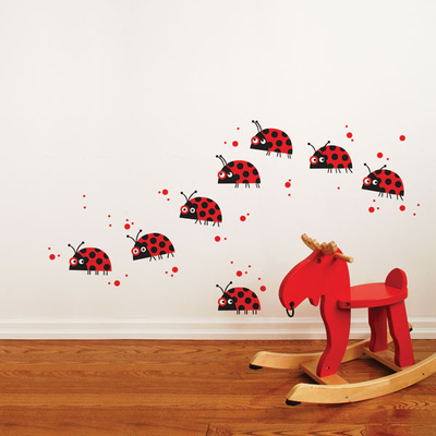 Ladybug Parade Wall Decal Wall Decal