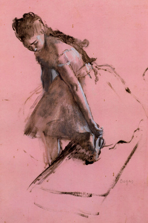 Edgar Degas Dancer Slipping on her Shoe Prints