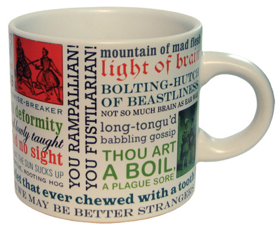 Mug of Shakespeare insult quotes unique holiday gift gifts