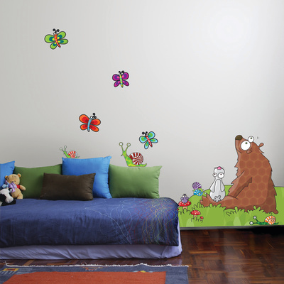 Animals Listen to a Story Wall Decal Wall Decal