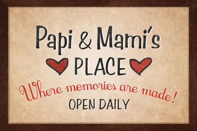 Papi and Mami's Place Posters