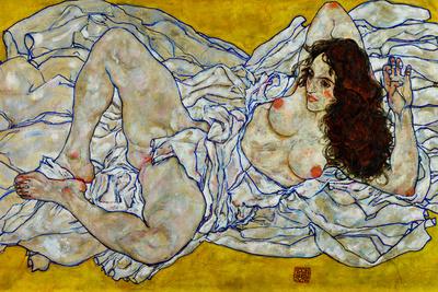 Egon Schiele Resting Nude Posters