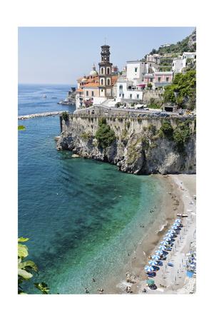 Beach at the Amalfi Coast, Amalfi, Italy Photographic Print by George Oze