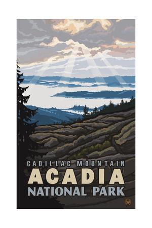 Cadillac Mounta Acadia National Park PAL 1656 Kunstdrucke von Paul A Lanquist