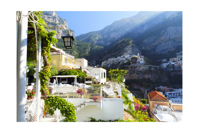 Relaxing Positano Morning, Italy Photographic Print by George Oze